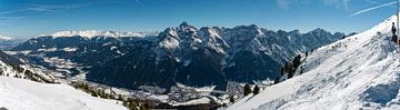 panoramafoto skigebied slick2000 fulpmes stubai van