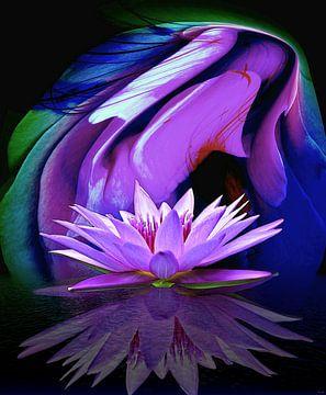 Roze bloem van Gertrud Scheffler