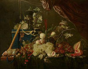 ein Stillleben mit Früchten und einer Schmuckschatulle, Jan Davidsz de Heem