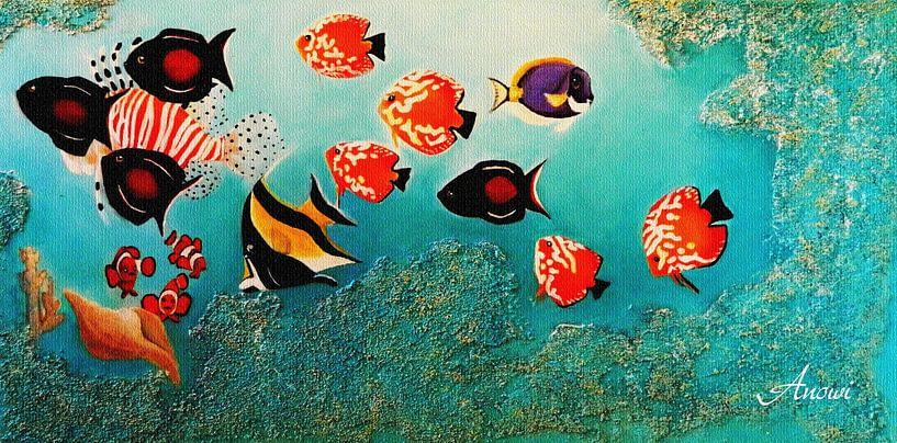 Tropische vissen van Iwona Sdunek alias ANOWI