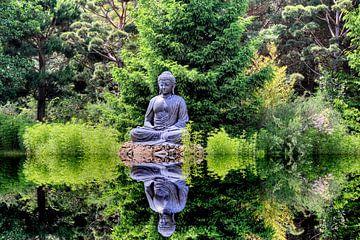 Statue de Bouddha dans le pavillon Himalaya du Népal Wiesent près de Ratisbonne sur Roith Fotografie