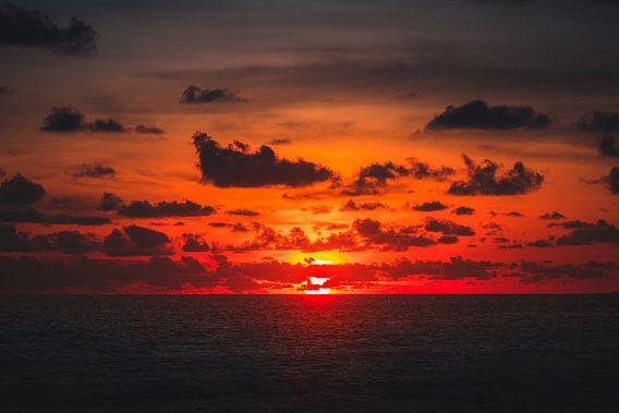 Berawa zonsondergang