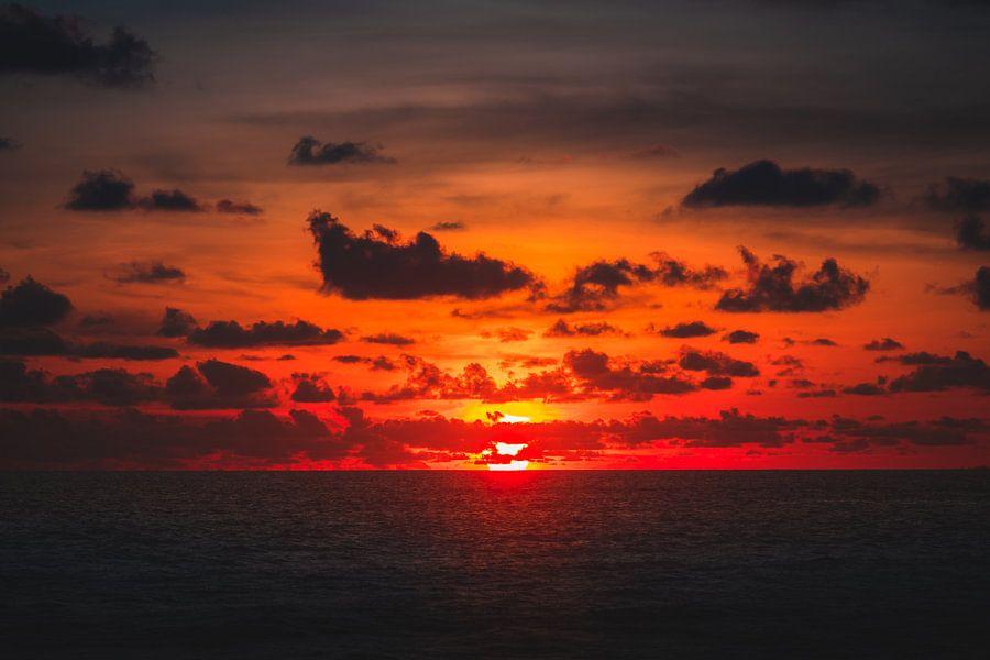 Berawa zonsondergang van Andy Troy