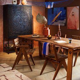 Kundenfoto: Marokko in Blau - Chefchaouen von Homemade Photos, auf alu-dibond