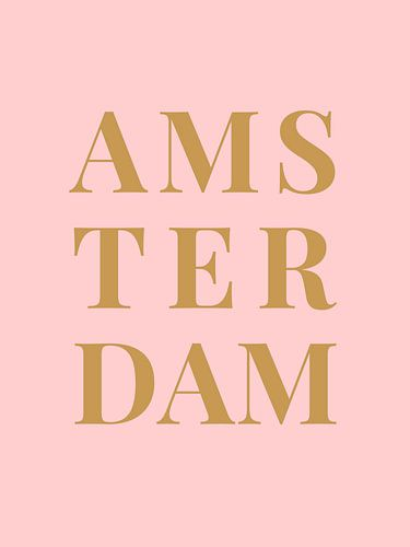 AMSTERDAM  (in roze/goud)