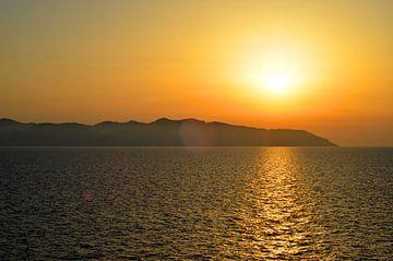 Zonsondergang van Corsica van