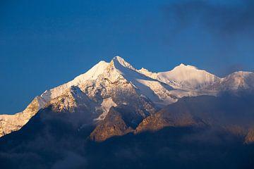 Alpengloed Weisshorn, Brunegghorn en Bishorn van