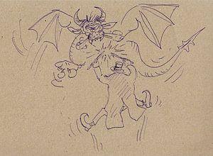Ein Zauberer und seine Drache