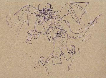Een tovenaar en zijn draak