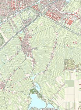 Kaart vanZoeterwoude