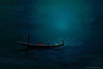 Gondel in der Nacht von Lutz Roland Lehn