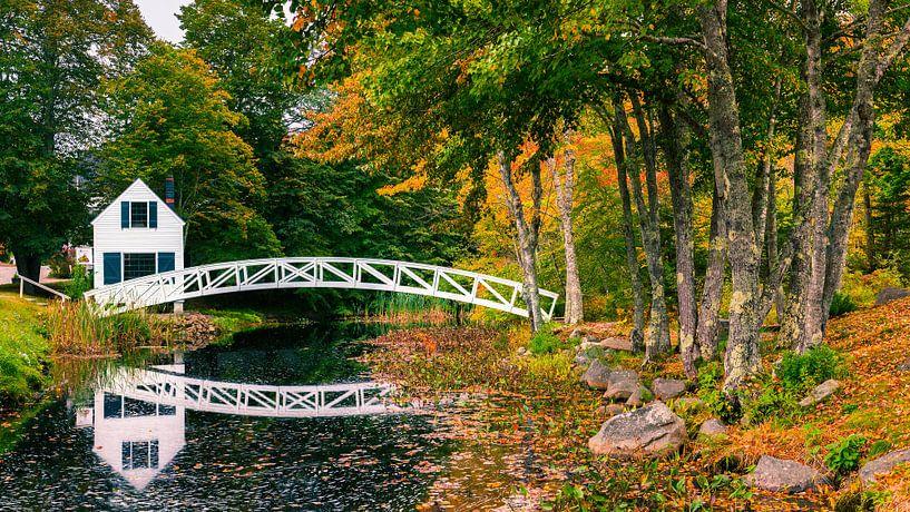 Somesville Brug, Maine van Henk Meijer Photography