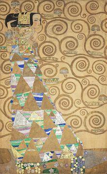 Werktekening voor de Stoclet-fries, deel 2, Gustav Klimt