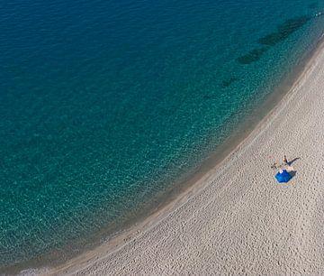Eenzaam op het strand sur Rene van der Meer