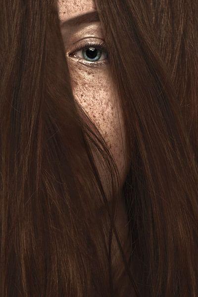 Prachtige sproeten (close-up) van Elianne van Turennout