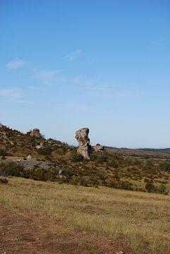 Landschaft mit Steinbildung in Französisch Landschaft von Spijks PhotoGraphics