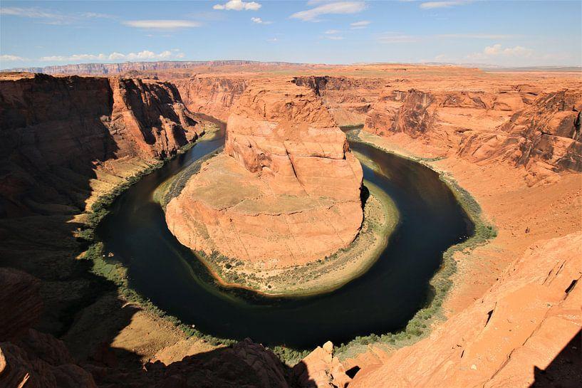 Horseshoe Bend met de Colorado rivier in Arizona USA van Paul Franke