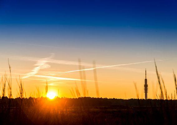 Zonsondergang op de Westerheide