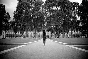Walk in the park B&W