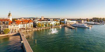 Haven van Friedrichshafen aan de Bodensee van Werner Dieterich