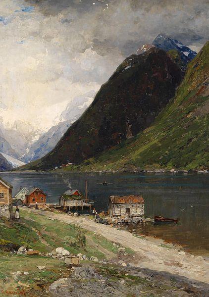 Fjordlandschaft, Georg Anton Rasmussen von Meesterlijcke Meesters