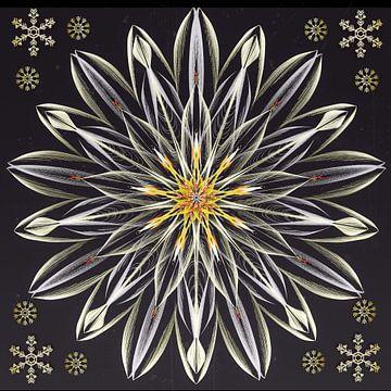 Mandala - ijsbloem van Christine Nöhmeier
