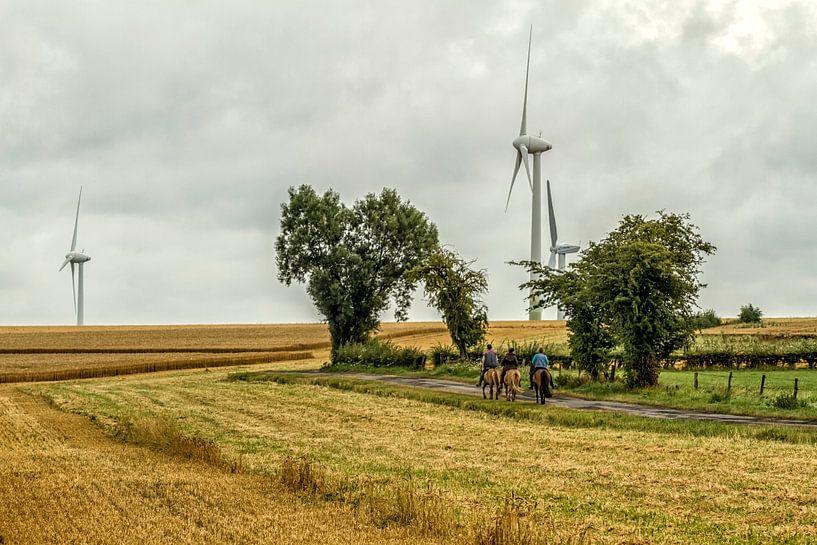 Windmolenpark bij Bocholtz van John Kreukniet