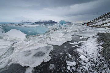 Jokulsarlon ijsschotsen van Monique Pouwels