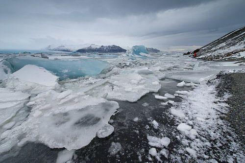 Jokulsarlon ijsschotsen van