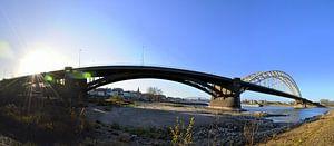 Panorama Waalbrug Nijmegen von Maarten  van der Velden