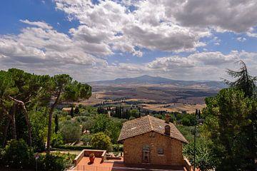 Uitzicht vanaf Pienze - Toscane - Italie van Jeroen(JAC) de Jong