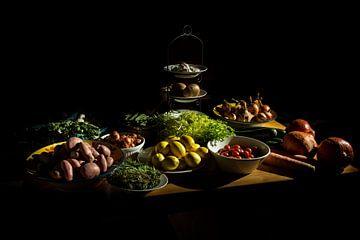 Nature morte de table de cuisine sur Siebe Baarda Fotografie