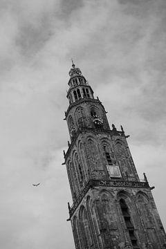 Martini-Turm in Schwarz-Weiß von Eugenlens