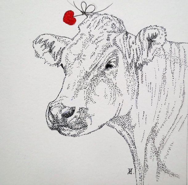 HeartFlow Koe 2 van Helma van der Zwan