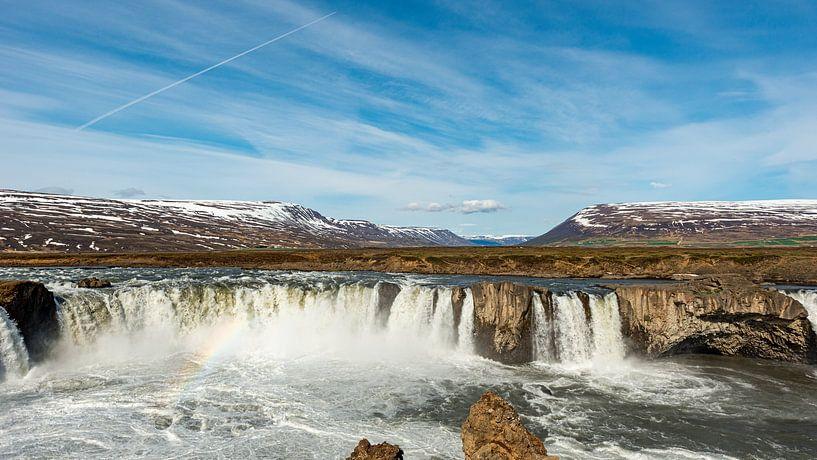 Goðafoss, IJsland van Hans van Wijk
