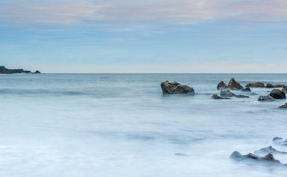 Rocks on the coast of El Golfo, Lanzarote island. Spain. van Carlos Charlez