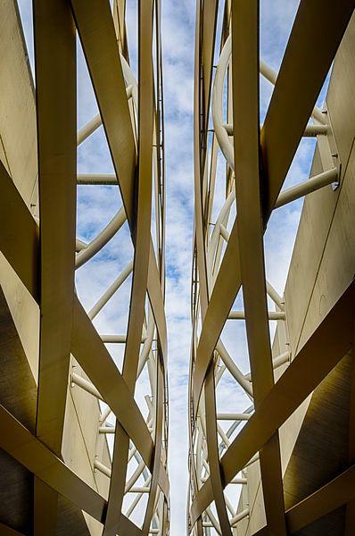 Spoorbrug als abstracte architectuur van Mark Bolijn