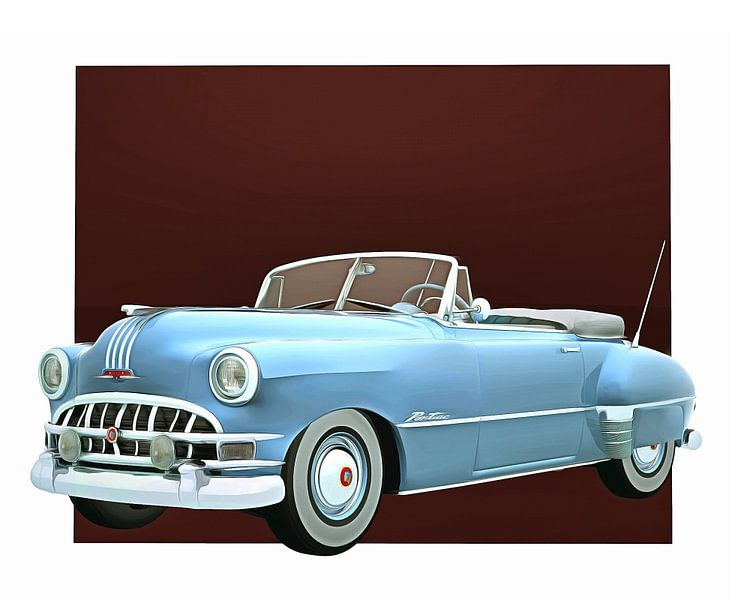 Klassieke auto – Oldtimer Pontiac Chieftain Convertible van Jan Keteleer