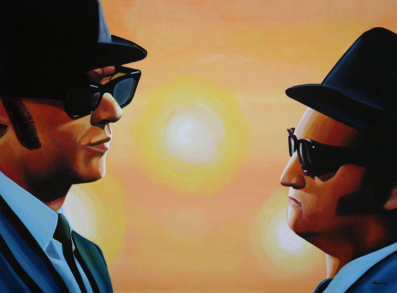 The Blues Brothers schilderij van Paul Meijering