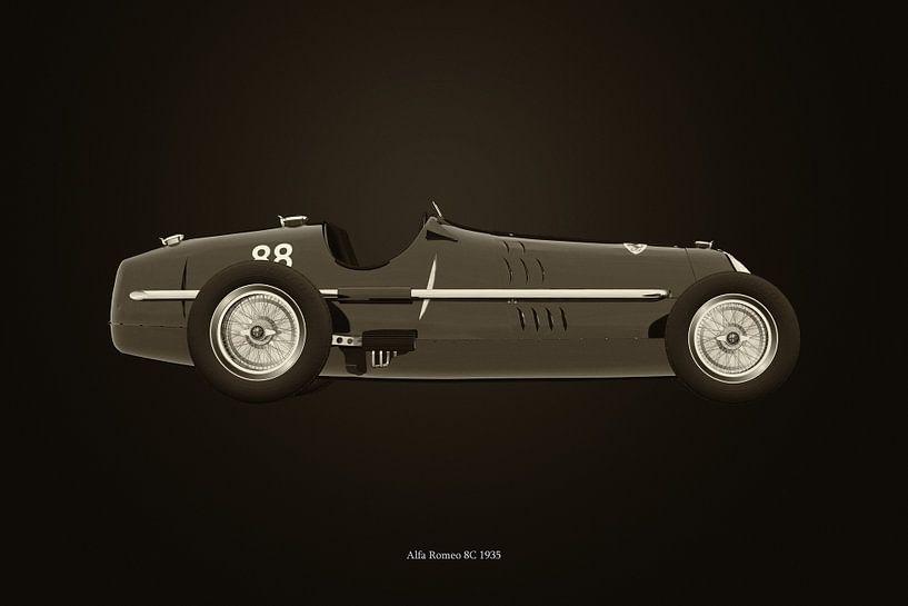 Alfa Romeo 8C 1935 B&W van Jan Keteleer