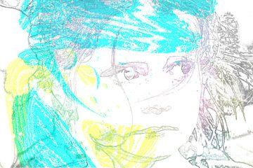 Blauw, geel en paars van Ans Bastiaanssen