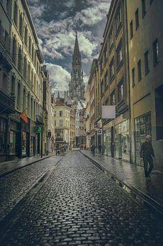 Brussel na een regenbui van Elianne van Turennout