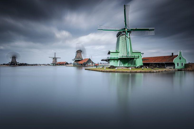 Les moulins de Zaanse Schans van Arnaud Bertrande