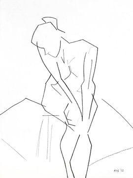 Female nude sitting von Kris Stuurop