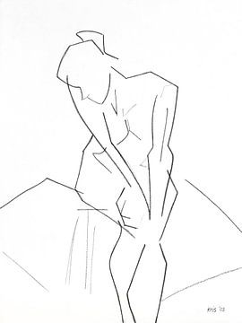 Female nude sitting sur