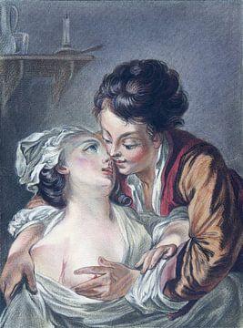Liebendes Paar, Louis-Marin Bonnet, 1771 von Atelier Liesjes