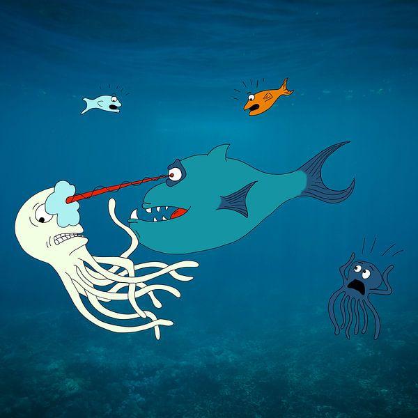 Laser vis van Dennis Michels