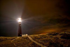 Vuurtoren Schiermonnikoog in de nacht