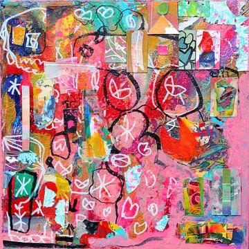 """Collage """"Geboren om lief te hebben"""" van Ina Wuite"""