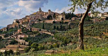 Trevi in Umbrië, Italië. van